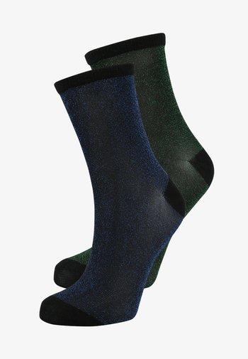 DINA SOLID GLITTER  2 PACK - Socks - blue nights/botanical garden