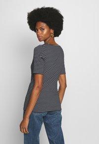 Marc O'Polo - ROUND-NECK STRIPED - T-shirt con stampa - dark blue - 2