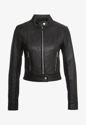 PONTI COMBO - Leather jacket - black