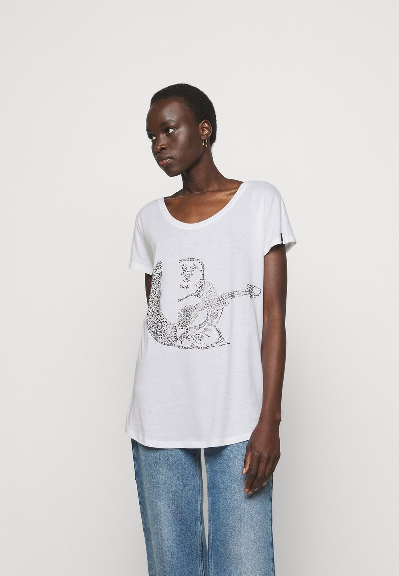 True Religion - RELAX CREW - Print T-shirt - white