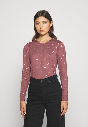 ONLISTA  - Long sleeved top - rose brown gold foil