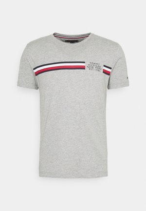 CORP SPLIT TEE - T-shirt print - medium grey heather