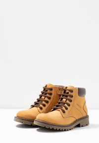 Geox - AXEL BOY - Lace-up ankle boots - dark yellow - 3