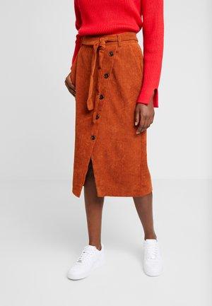 ROKSY SKIRT - Pouzdrová sukně - ginger bread