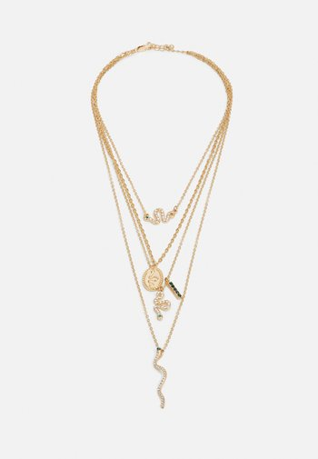 PCAKELEJE COMBI NECKLACE - Necklace - gold-coloured