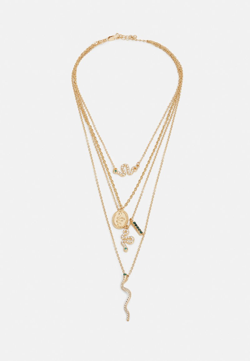 Pieces - PCAKELEJE COMBI NECKLACE - Smykke - gold-coloured