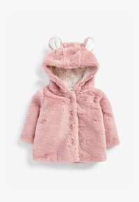 Next - HOODED EARS COSY BUTTON-UP  - Fleece jacket - pink - 0