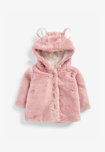 HOODED EARS COSY BUTTON-UP  - Fleecejas - pink