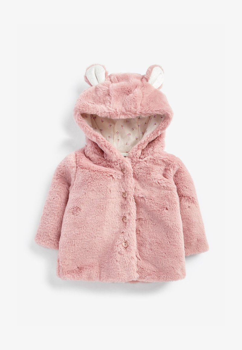 Next - HOODED EARS COSY BUTTON-UP  - Fleece jacket - pink