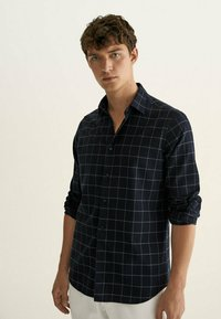 Massimo Dutti - SLIM FIT - Shirt - dark blue - 0