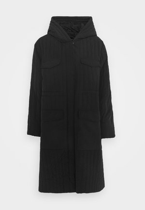 SLFLORY QUILTED COAT - Abrigo - black