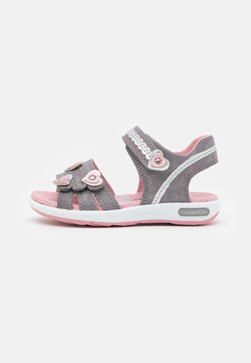 Superfit - EMILY - Sandals - hellgrau/rosa