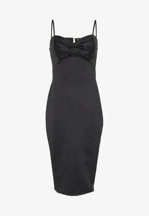 BOW MIDI DRESS - Pouzdrové šaty - black
