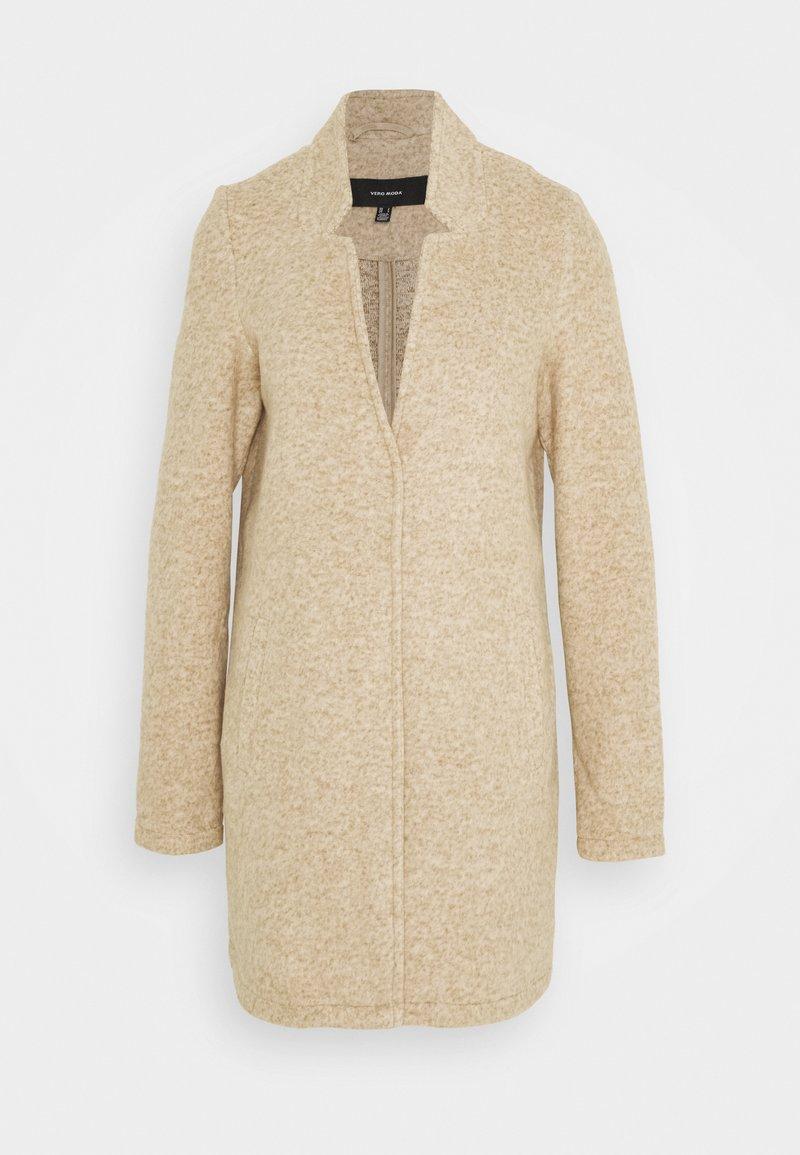 Vero Moda Tall - VMBRUSHEDKATRINE JACKET - Classic coat - silver mink melange