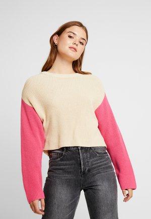 Jumper - pink/off-white