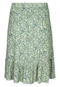Zizzi - Pleated skirt - light green leaf - 4