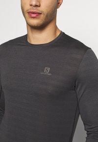 Salomon - TEE - Long sleeved top - black/heather - 4