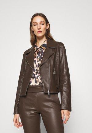 RANCHERA LUXURY BIKER JACKET - Kožená bunda - dark brown