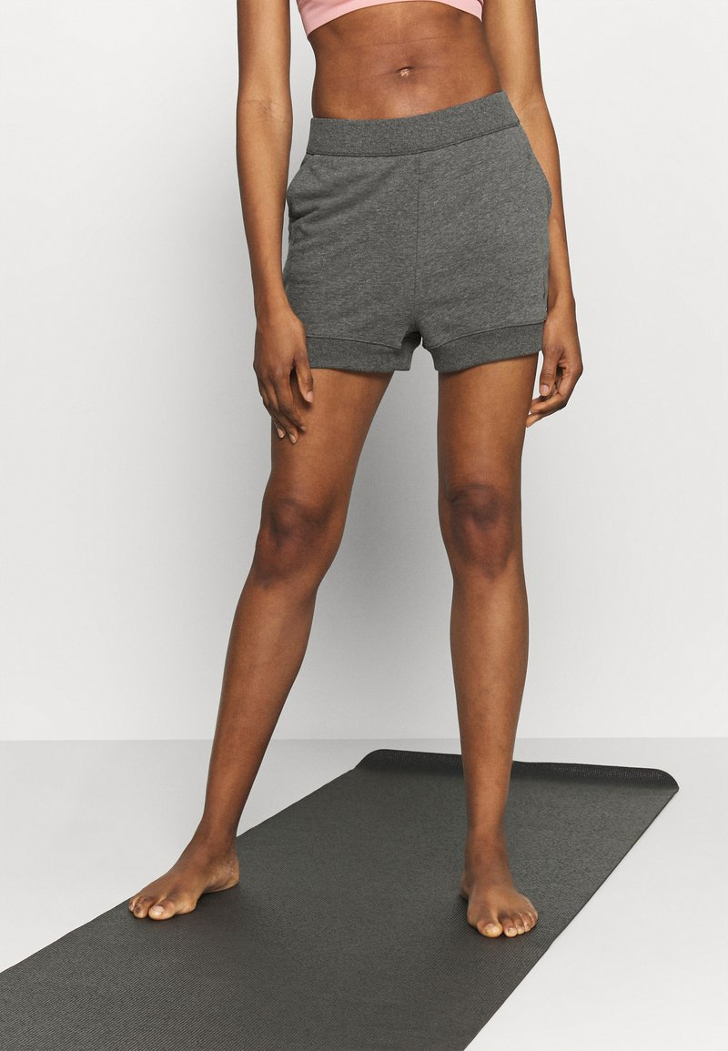 Nike Performance - CORE SHORT - Tracksuit bottoms - black/dark smoke grey