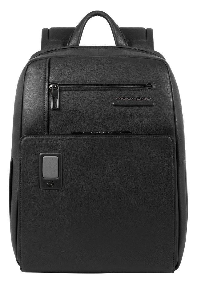AKRON BUSINESSRUCKSACK LEDER 38 CM LAPTOPFACH - Zaino - black