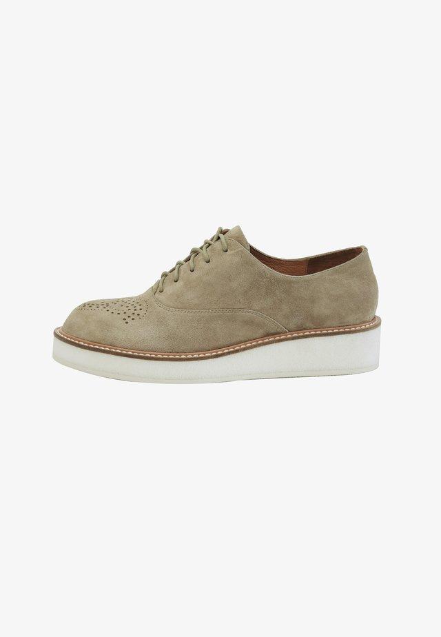 Chaussures à lacets - khaki