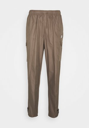 Tracksuit bottoms - olive grey/white