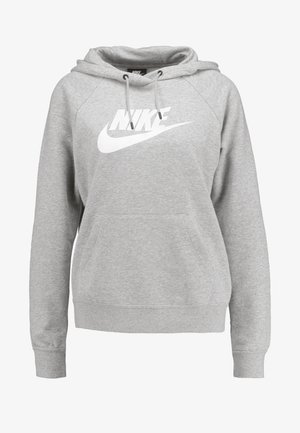 HOODIE - Huppari - dark grey heather/white