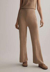 OYSHO - Trousers - beige - 0