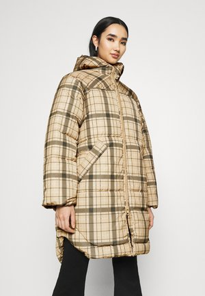RUT PUFFER JACKET - Cappotto invernale - beige/green