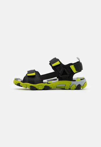 HENRY - Walking sandals - schwarz/grün