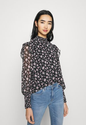 VMFILIA SMOCK - Long sleeved top - black/rose