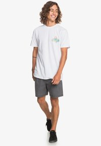 Quiksilver - AUTHENTIC FAKE - Print T-shirt - white - 1