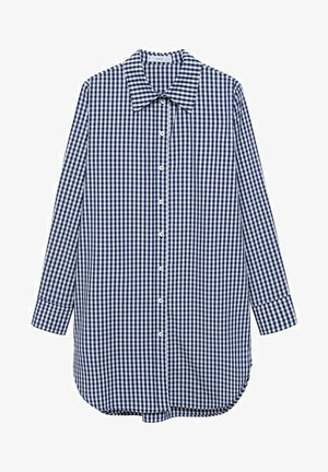 Button-down blouse - dunkles marineblau