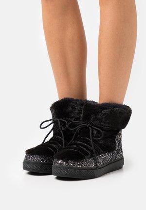 GLITTER - Winter boots - black