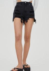 PULL&BEAR - Denim shorts - black - 0