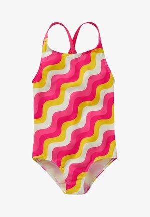 Swimsuit - pink, wellen