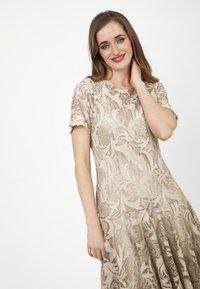 Madam-T - SACASA - Cocktail dress / Party dress - beige - 4