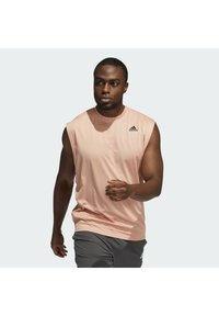 adidas Performance - YOGA MUSCLE TEE - Top - ambient blush - 0