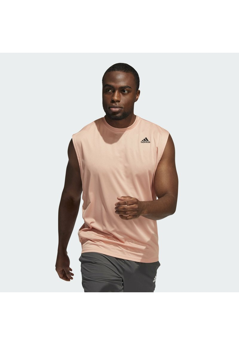 adidas Performance - YOGA MUSCLE TEE - Top - ambient blush