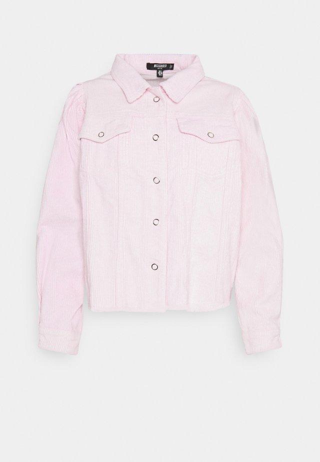 PUFF SLEEVE JACKET - Kevyt takki - pink