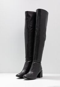 Dorothy Perkins - LOLA SKYE LAELA HIGH SHAFT BOOT - Kozačky nad kolena - black - 4