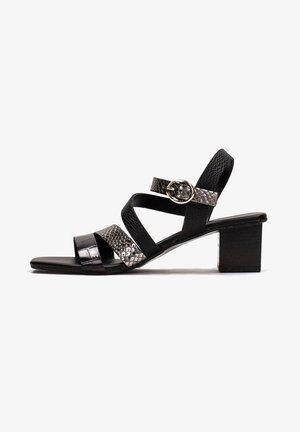OLGA - Sandaalit nilkkaremmillä - black