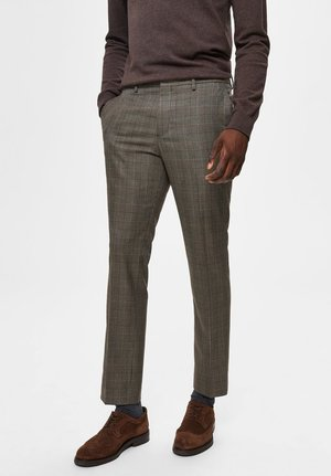 Suit trousers - brown sugar