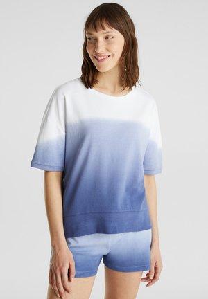 MIT FARBVERLAUF - Pyjama top - blue lavender