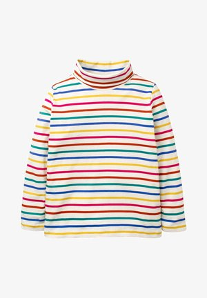 MIT ROLLKRAGEN - Long sleeved top - regenbogen/bunt, gestreift