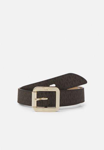 LOGO BELT - Cinturón - brown