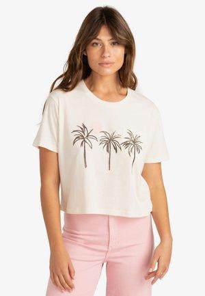 PALMS  - Print T-shirt - salt crystal