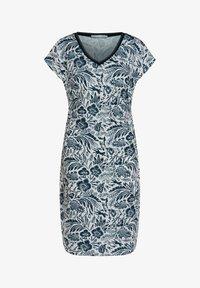 Oui - Shift dress - white blue - 4