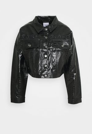 RETRO CROCO JACKET - Let jakke / Sommerjakker - black