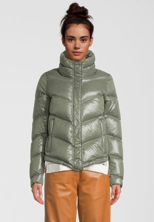 MIT STEHKRAGEN - Gewatteerde jas - matchadark steel